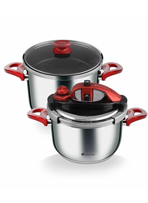 Esse Click&Cook Nova Düdüklü Set 4,5+7 lt Renkli